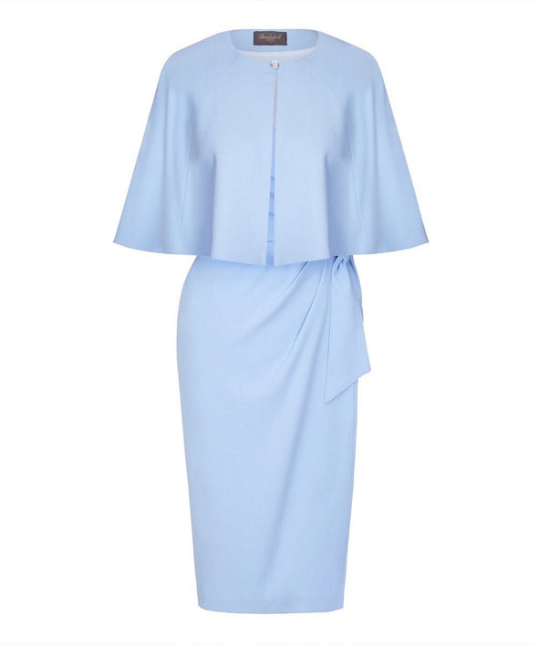 'Confident' 3/4 Sleeve Dress Powder Blue