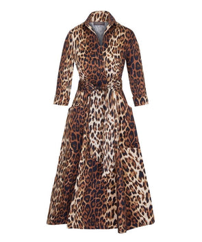 'For The Love of Pockets' Leopard Bombshell Dress | Mother of the Bride Wedding Guest Dress