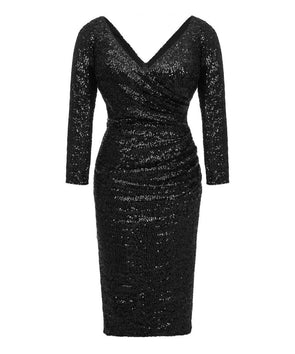 Ultimate Black Sequin Cocktail Dress