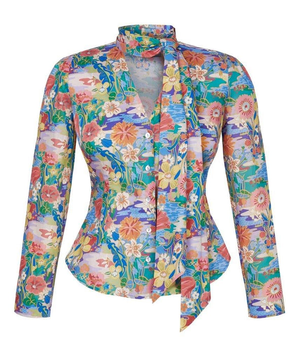 Liberty Print Sunshine Meadow Shirt front
