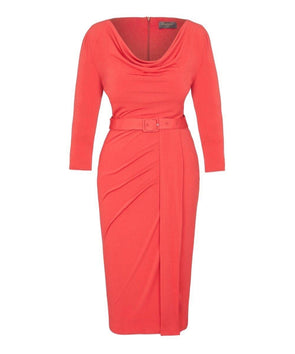 As worn today by GMB Kate Garraway Bombshell Stretch Luxe' Scoop Neck 3/4 Sleeve Jersey Dress
