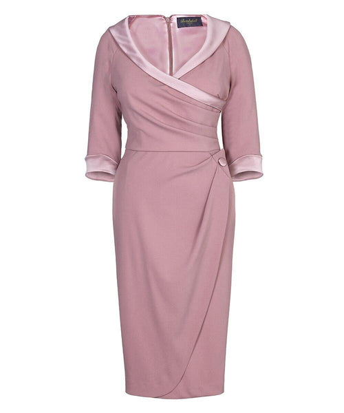 Mother of the bride silk dress with sleeves wedding guest dress