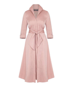 Cinder Rose Grace Tie Front Shirt Dress