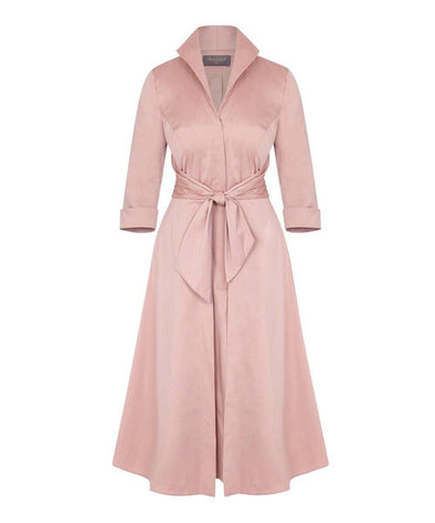 BEST SELLER Cinder Rose Grace Tie Front Shirt Dress