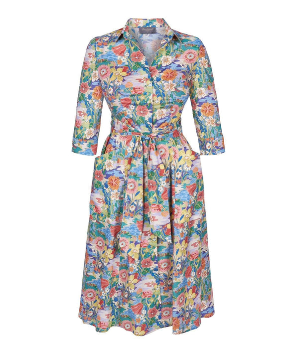 Liberty Print Sunshine Meadow Dress front