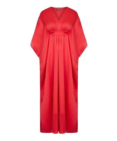 Madarin Red Kaftan, holiday, cruise, summer evening, wedding, cover up,