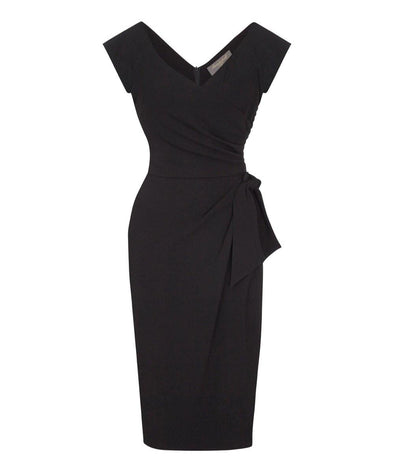 Black Cap Sleeve Dress | Mother of the Bride Wedding Guest Dress