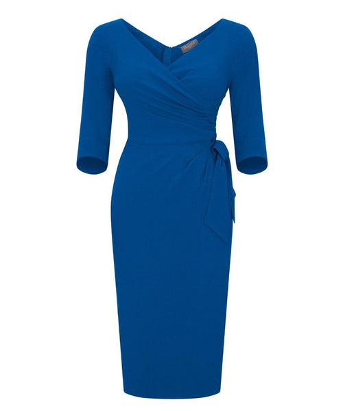 NEW 'Confident' Bombshell 3/4 Sleeve Dress Brilliant Blue