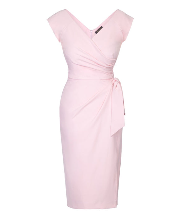 Pale Pink Cap Sleeve Dress