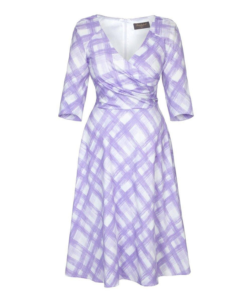 Fit Flare Flatter 'Brittany Lilac' Bombshell Dress