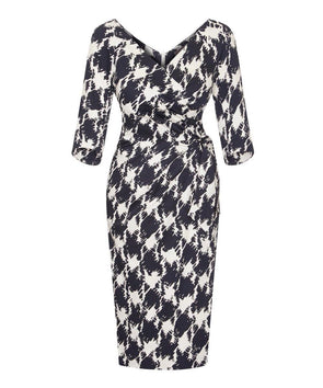 Confident' 3/4 Sleeve Dress 5th Avenue Print
