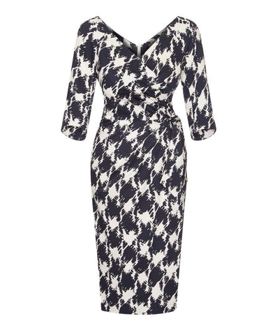 'Confident' 3/4 Sleeve Dress 5th Avenue Print