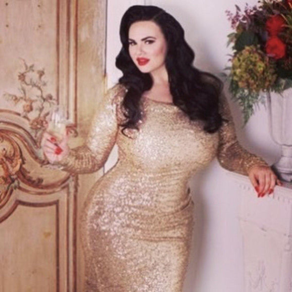 Bombshell Gold Sequin Gown