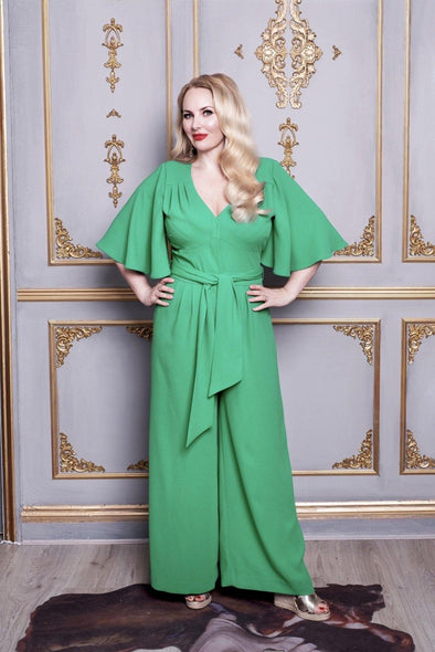 Angel Sleeves Grace Jumpsuit in Green