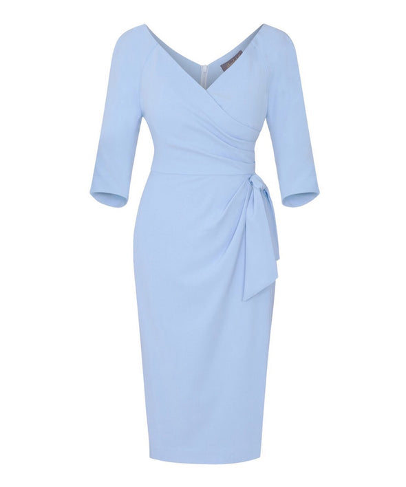 'Confident' 3/4 Sleeve Dress Powder Blue Mother of the Bride Wedding Guest Dress