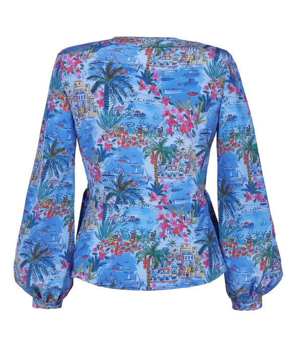 Blouse in silk Liberty 'Capevista' Print back
