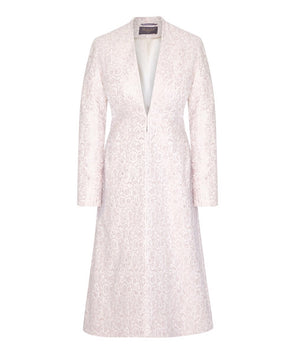 Pale Pink Brocade Bombshell Coat