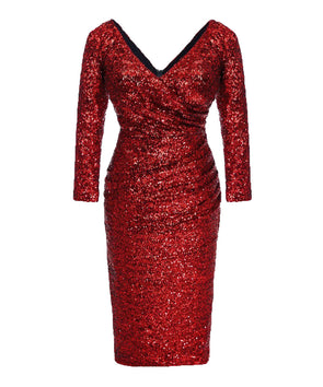 NOW IN Red The Ultimate Sequin Bombshell Cocktail Dress