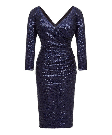 BEST SELLER The Ultimate Midnight Blue Sequin Bombshell Cocktail Dress