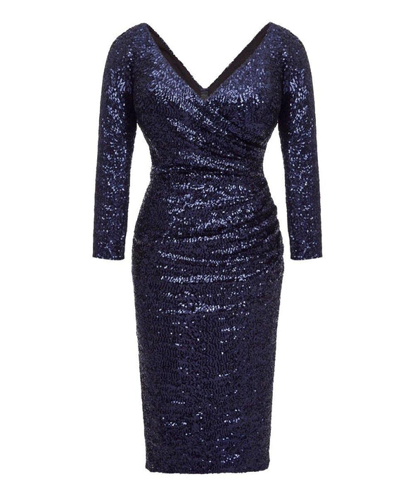 Ultimate Midnight Blue Sequin Cocktail Dress