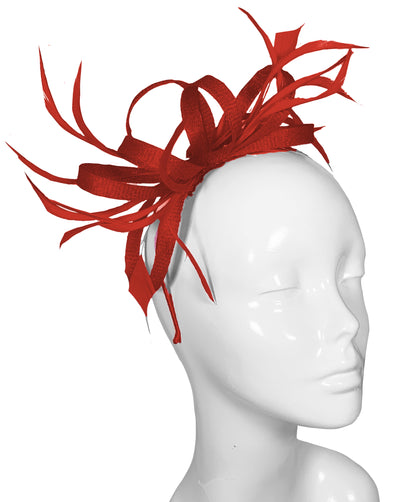 The Bombshell 'Finishing Touch' Fascinator Red