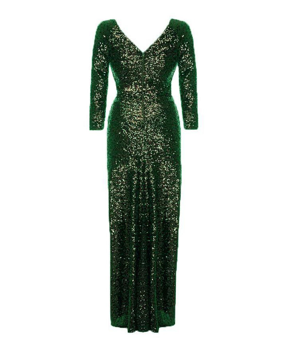 Ultimate Hollywood Green Sequin Gown