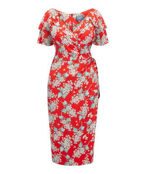 Garden Party Dress in Liberty Hot Red