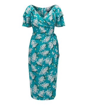 Garden Party Dress in Liberty Turquoise