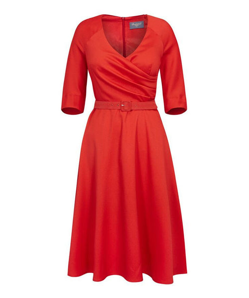 Fit Flare Flatter Wedding guest dress. Dresses for wedding guests. Nigella dress. Dresses with sleeves. Mother of the Bride dress. Ascot dress. Bombshell dress