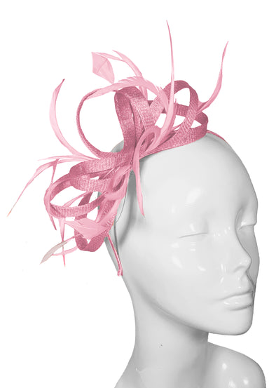 The Bombshell 'Finishing Touch' Fascinator Wild Rose
