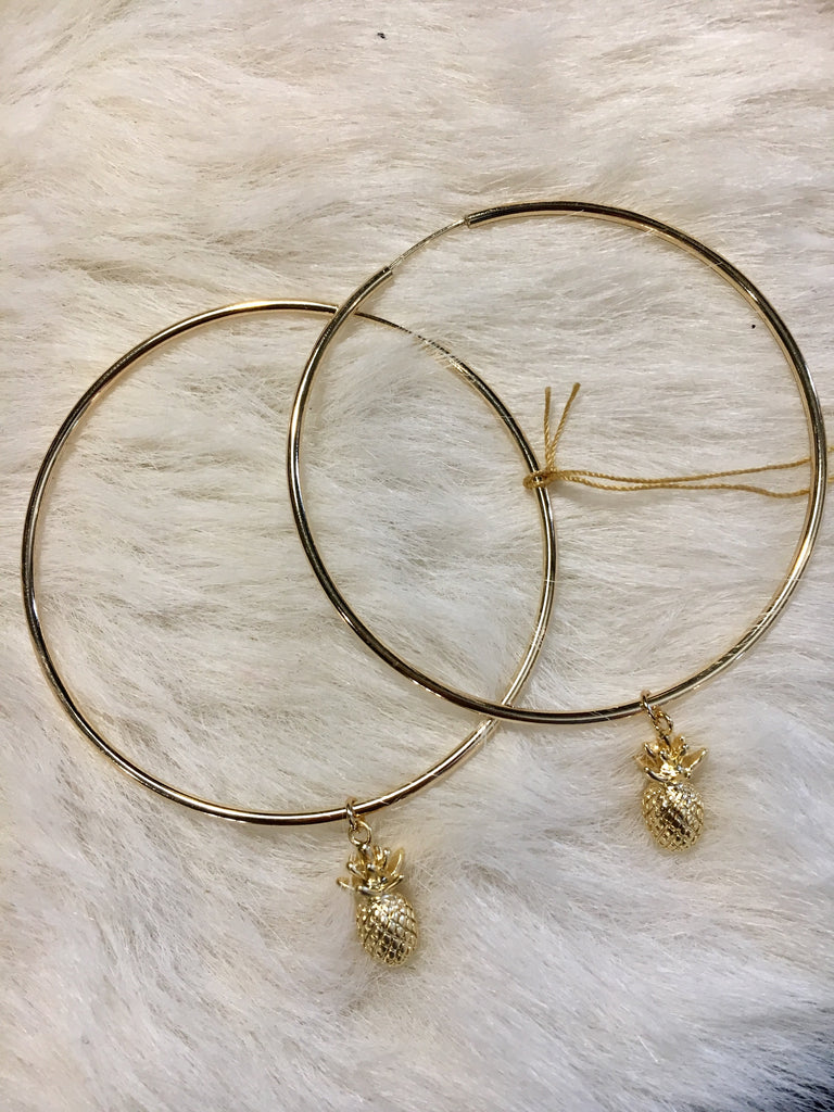 Large Pineapple Hoops