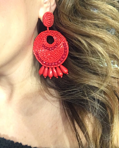 Blaze Red Earring