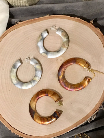 Burnished Hoops