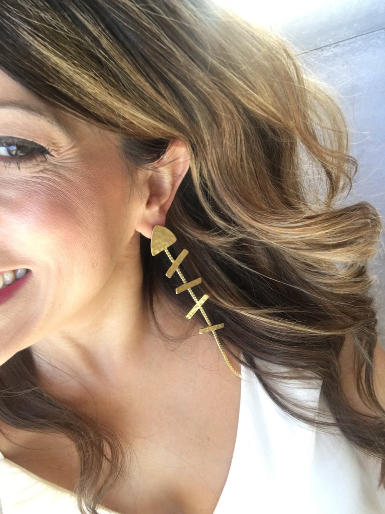 Greek Fish Earrings