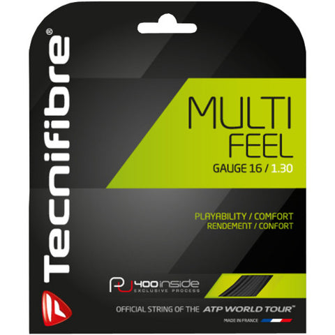 Tennis Racket String - Multi-Feel : 16, 17 Gauge