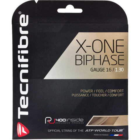 Tennis Racket String - X-One Biphase : 16, 17, 18 Gauge