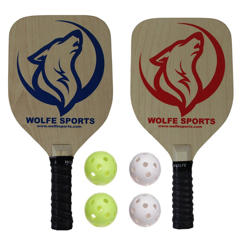 Wolfe Sports Premium Pickleball Paddle Bundle w/Balls