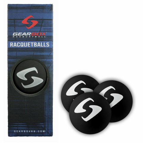 Gearbox Black Racquetballs