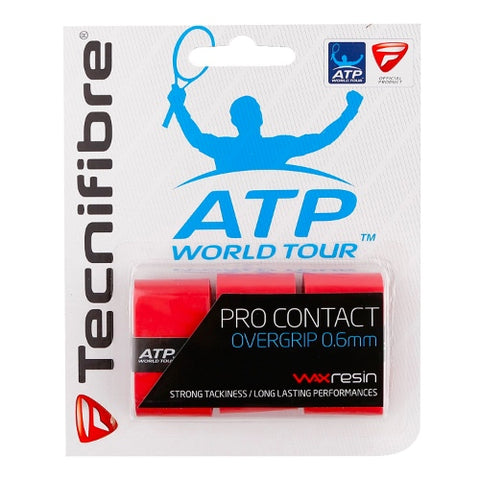 Overgrip Pro Contact Tennis - Tecnifibre 3 Pack (Red, White, Black)