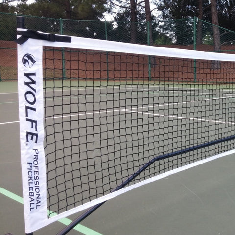 Wolfe Sports Portable Pickleball Net with Wheels