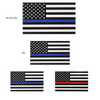 4 Decals Thin Blue Line Flag in Three sizes
