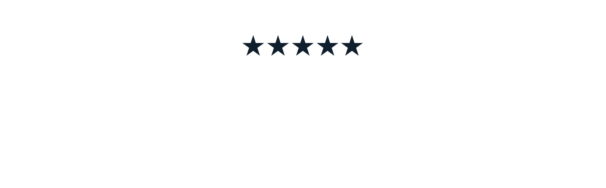 5 star review with text