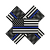 Five Police Decals in Black white and blue