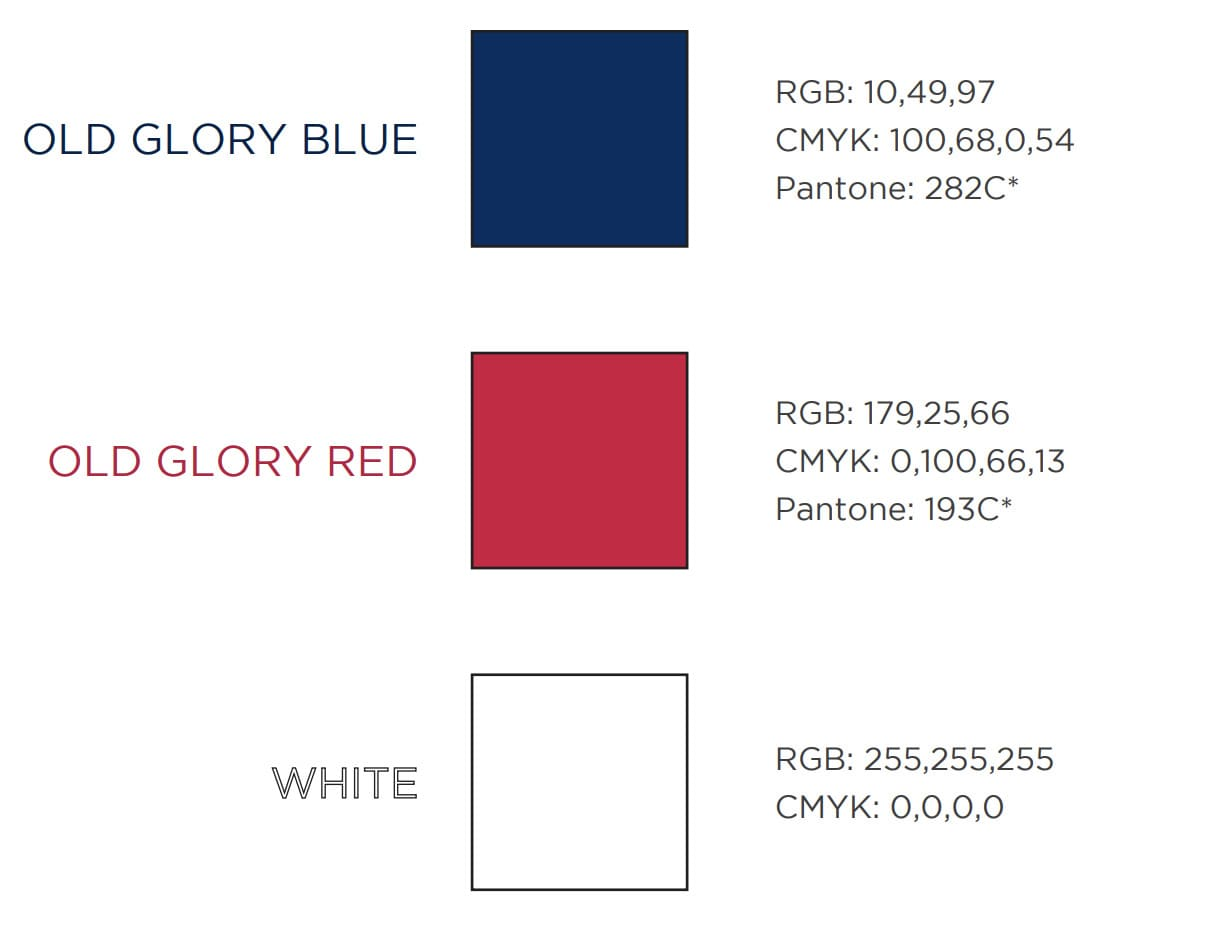 American Flag Pantone Color Swatch