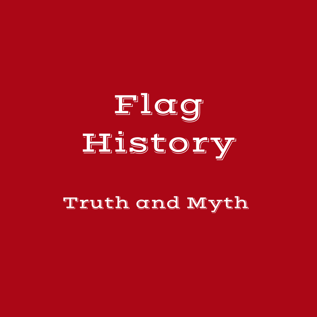 Flag History Billboard on red background