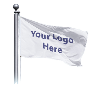 White flag that says Your Logo here