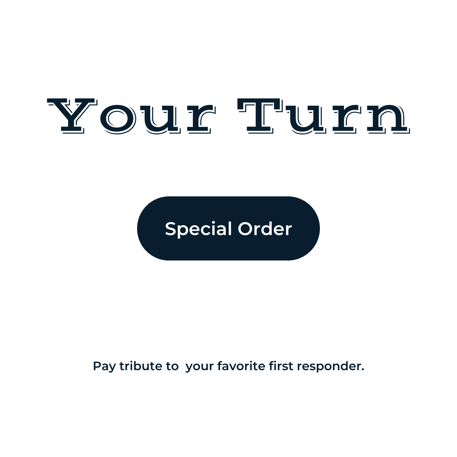 text reading your turn - place an special order for custom embroidery
