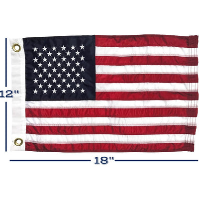 "12x 18"" American Nautical Flag with dimensions"