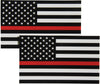 Black White and Red American Flag Bumper Sticker 2-pack