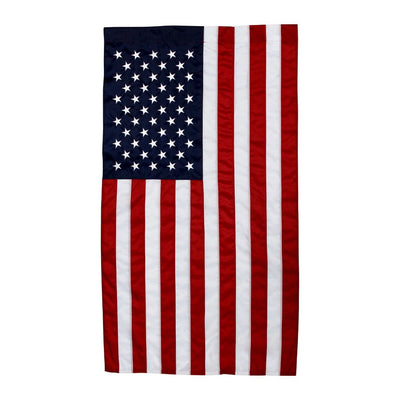 American Flag 3x5 Banner hanging vertically